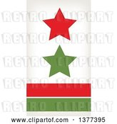 Vector Clip Art of Retro Red and Green Stars over Lines by Cherie Reve
