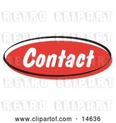 Vector Clip Art of Retro Red Contact Internet Website Button by Andy Nortnik