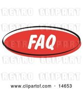 Vector Clip Art of Retro Red FAQ Internet Website Button by Andy Nortnik