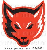 Vector Clip Art of Retro Red Fox Face by Patrimonio