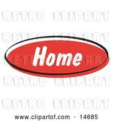 Vector Clip Art of Retro Red Home Internet Website Button Clipart Illustration by Andy Nortnik