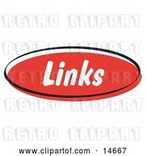 Vector Clip Art of Retro Red Links Internet Website Button Clipart Illustration by Andy Nortnik