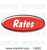 Vector Clip Art of Retro Red Rates Internet Website Button by Andy Nortnik