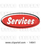 Vector Clip Art of Retro Red Services Internet Website Button by Andy Nortnik