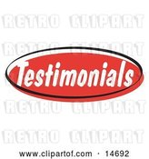 Vector Clip Art of Retro Red Testimonials Internet Website Button Clipart Illustration by Andy Nortnik