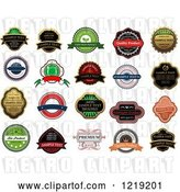 Vector Clip Art of Retro Retail Quality Labels with Sample Text 2 by Vector Tradition SM