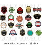 August 14th, 2018: Vector Clip Art of Retro Retail Quality Labels with Sample Text 4 by Vector Tradition SM