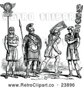 Vector Clip Art of Retro Roman Soldiers by Prawny Vintage