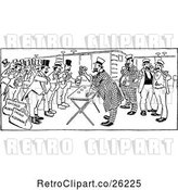 Vector Clip Art of Retro Room of Gambling Men by Prawny Vintage