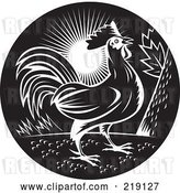 Vector Clip Art of Retro Rooster Logo by Patrimonio