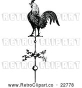 Vector Clip Art of Retro Rooster Weathervane by Prawny Vintage