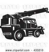 Vector Clip Art of Retro Rough Terrain Crane by Patrimonio