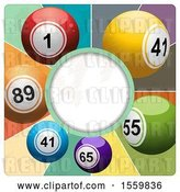 Vector Clip Art of Retro Round Frame with Lottery Balls by Elaineitalia