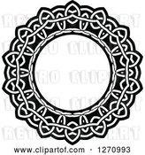 Vector Clip Art of Retro Round Lace Frame Design 4 by Vector Tradition SM