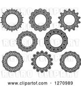 August 14th, 2018: Vector Clip Art of Retro Round Lace Frame Designs by Vector Tradition SM