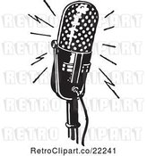 Vector Clip Art of Retro Rounded Microphone by BestVector