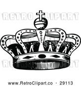 Vector Clip Art of Retro Royal Crown by Prawny Vintage