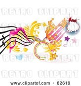 Vector Clip Art of Retro Rungy Funky Music Design of Hearts, Stars, Spirals by MilsiArt