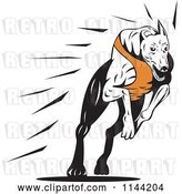 Vector Clip Art of Retro Running Greyhound Dog 2 by Patrimonio
