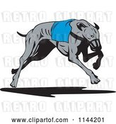 Vector Clip Art of Retro Running Greyhound Dog 3 by Patrimonio