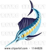 Vector Clip Art of Retro Sailfish 1 by Patrimonio