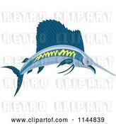 Vector Clip Art of Retro Sailfish 2 by Patrimonio