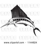 Vector Clip Art of Retro Sailfish by Patrimonio