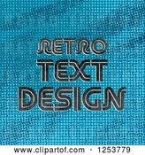 Vector Clip Art of Retro Sample Text over Blue by Vectorace