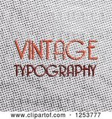 Vector Clip Art of Retro Sample Text over Gray by Vectorace