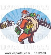 Vector Clip Art of Retro Santa Logo by Patrimonio