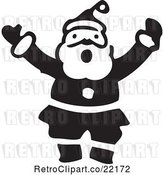 Vector Clip Art of Retro Santa Shouting by BestVector