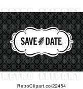 Vector Clip Art of Retro Save the Date Wedding Damask Design by BestVector