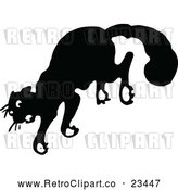 Vector Clip Art of Retro Scared Cat Jumping by Prawny Vintage