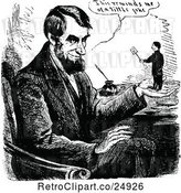 Vector Clip Art of Retro Scene of Abraham Lincoln in Character by Prawny Vintage