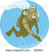 Vector Clip Art of Retro Scuba Diver Logo - 1 by Patrimonio