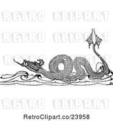 Vector Clip Art of Retro Sea Dragon by Prawny Vintage