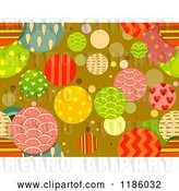 Vector Clip Art of Retro Seamless Background of Patterned Circles by BNP Design Studio