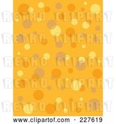 Vector Clip Art of Retro Seamless Background Pattern of Bubbles on Orange by Andy Nortnik