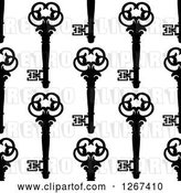 Vector Clip Art of Retro Seamless Background Pattern of Ornate Skeleton Keys by Vector Tradition SM