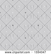 Vector Clip Art of Retro Seamless Diamond Illusion Background Pattern by Michaeltravers
