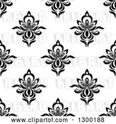 Vector Clip Art of Retro Seamless Floral Background Pattern 4 by Vector Tradition SM