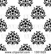 Vector Clip Art of Retro Seamless Floral Background Pattern 5 by Vector Tradition SM