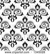 Vector Clip Art of Retro Seamless Floral Background Pattern by Vector Tradition SM