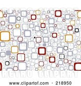 Vector Clip Art of Retro Seamless Funky Background of Squares on White by BNP Design Studio