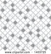 Vector Clip Art of Retro Seamless Grayscale Pattern Background of Diamonds or Tiles by Dero