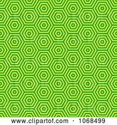 Vector Clip Art of Retro Seamless Green Pattern by Michaeltravers