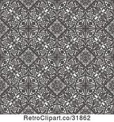 Vector Clip Art of Retro Seamless Intricate Middle Eastern Motif Background Pattern by AtStockIllustration