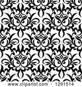 Vector Clip Art of Retro Seamless Pattern Background of Floral Damask 3 by Vector Tradition SM