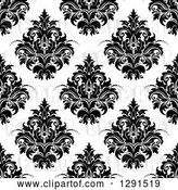 Vector Clip Art of Retro Seamless Pattern Background of Floral Damask by Vector Tradition SM