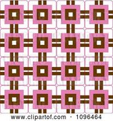 Vector Clip Art of Retro Seamless Pink Brown and White Background Pattern by Cherie Reve